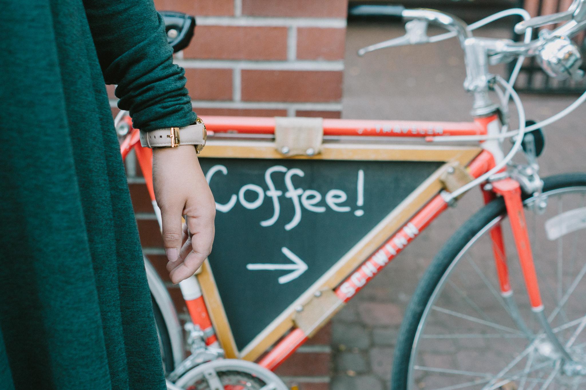 Coffee Sign on a Bike