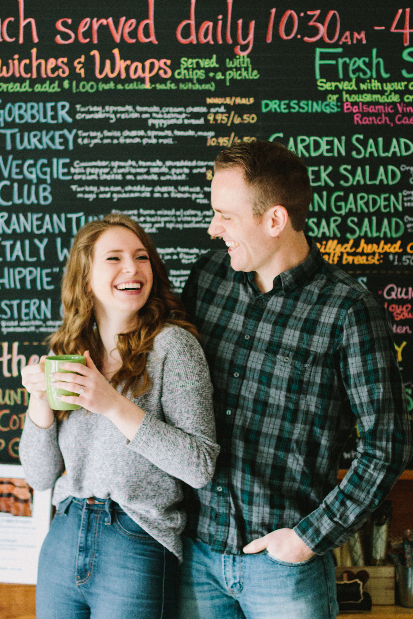 the coffee cottage engagement shoot