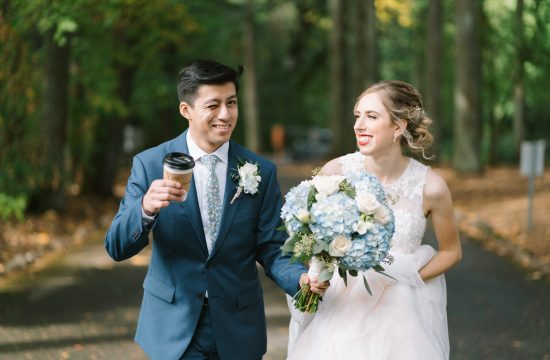 Bride and Groom - Having Coffee