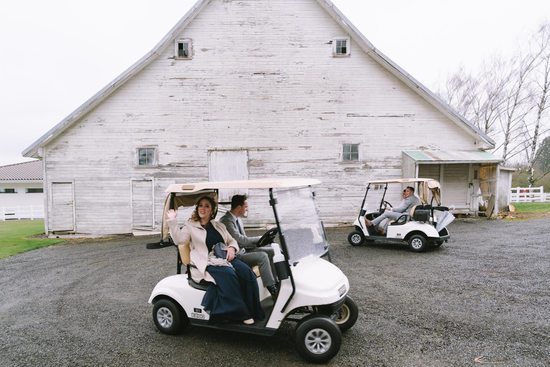 Golf Cart Wedding Photos
